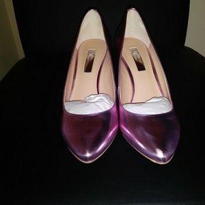 Metallic Pink Pumps Shoes